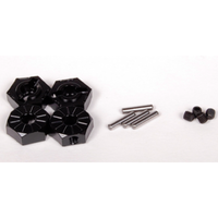 Axial AX30427 Narrow 12mm Aluminum Hub - Black (4pcs)