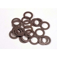 Traxxas 1985: PTFE-coated washers, 5x8x0.5mm (20) (use with ball bearings)
