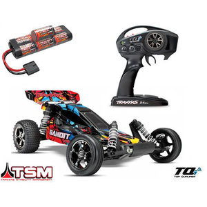 Traxxas Bandit VXL Brushless RC Buggy Car RTR with TSM 24076-3