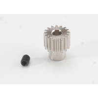 Traxxas 2416: Gear, 16-T pinion (48-pitch) / set screw