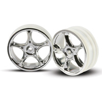Traxxas 2473: Wheels, Tracer 2.2'' (chrome) (2) (Bandit front)