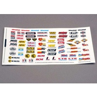 Traxxas 2514: Decal sheet, racing sponsors