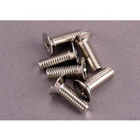 Traxxas 2548: Screws, 4x12mm countersunk machine (100-degree) (6)
