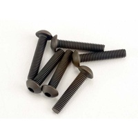 Traxxas 2579: Screws, 3x15mm button-head machine (hex drive) (6)
