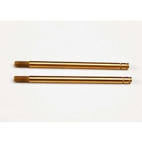 Traxxas 2656T: Shock shafts, hardened steel, titanium nitride coated