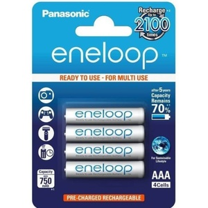 Rechargeable Battery AAA Micro 8000mAh Panasonic Eneloop NiMH Ready to Use  BK-4MCCE (4 Classic Batteries)