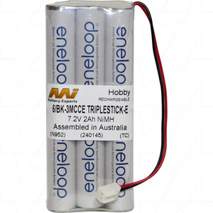 7.2v NiMh Eneloop Rechargable 2000mah Battery Pack Aura 9