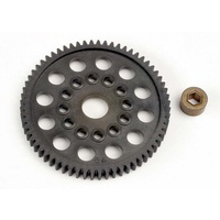Traxxas 3164: Spur gear (64-Tooth) (32-Pitch) w/bushing