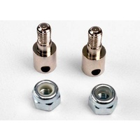 Traxxas 3180: Rod guides (2)/ 3mm nylon locknuts (2)