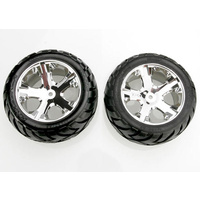 Traxxas 3773: Tires & wheels, assembled, glued
