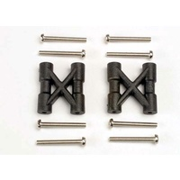 Traxxas 3930: Bulkhead cross braces (2)/ 3x25mm CS screws (8)