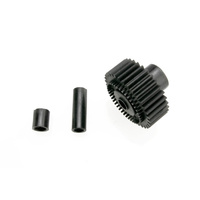 Traxxas 3984X: Output gear, 33-tooth (1)/ spacers (2)