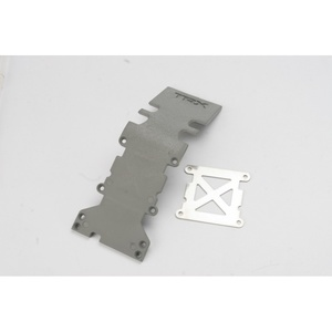 4938A Traxxas Rear Plastic Skid Plate (Grey) w/ Stainless Steel Plate