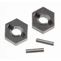 Traxxas 4954R Steel Wheel Hex Hubs (2) Axle Pins (2) 14mm