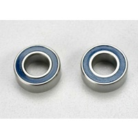 Traxxas 5115: Ball bearings, blue rubber sealed (5x10x4mm) (2)