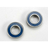 Traxxas 5117: Ball bearings, blue rubber sealed (6x12x4mm) (2)