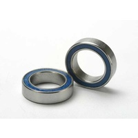 Traxxas 5119: Ball bearings, blue rubber sealed (10x15x4mm) (2)
