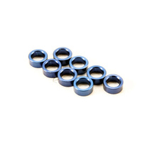 Traxxas 5133A: Aluminum Blue Pushrod Spacer Revo (8)