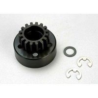 Traxxas 5215: Clutch Bell 15T 15-T/Tooth +Washer & 5mm E-Clip