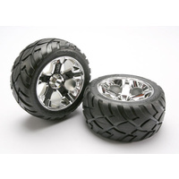 Traxxas 5576R: Tires & wheels, assembled, glued