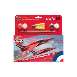 Airfix RAF Red Arrows Gnat Starter Set Plastic Model Kit  1:72 #A55105
