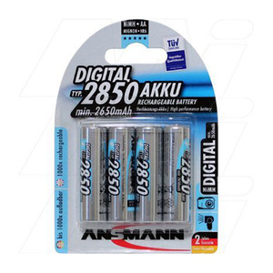 Ansmann AA 2850 mAH Ni-MH Rechargeable Batteries