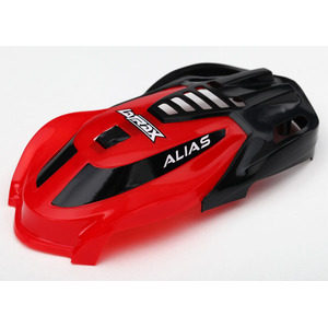 Traxxas 6611: Canopy Red/Screws Alias