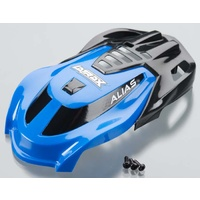 Traxxas 6612: Canopy Blue/Screws Alias