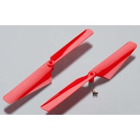 Traxxas 6628: Rotor Blade Set Red Alias (2)
