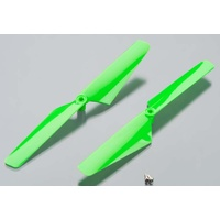 Traxxas 6631: Rotor Blade Set Green Alias (2)