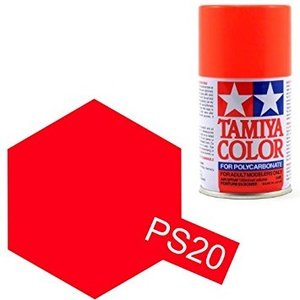 Tamiya PS-20 Fluorescent Red Polycarbonate 100ml Spray