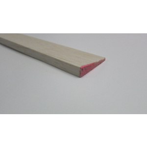 "Balsa Trailing Edge 9.5 x 38 x 1220mm or 3/8"" x 1 1/2"" x 48"" Pink"