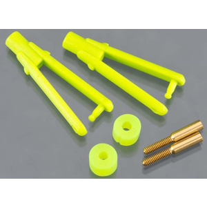 "DUBRO Long Arm Micro Clevis .047"" Lime Green (2) DUBRO974-LG"