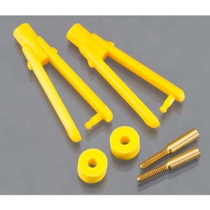 "DUBRO Long Arm Micro Clevis .047"" Yellow (2pcs) DUBRO974-Y"
