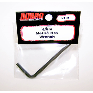 DUBRO 2131 4mm Metric Hex Wrench (1 PC)