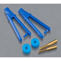 Du-bro 973-BL Long Arm Micro Clevis .032 Blue (2)