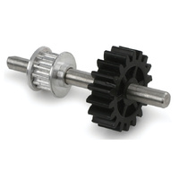 Aluminum Speed-Up Tail Drive Gear/Pulley Assy:Blade 400