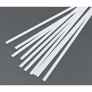 Evergreen 107 Styrene Strips .010x.156  (.25 x 4.0mm) Qty 10
