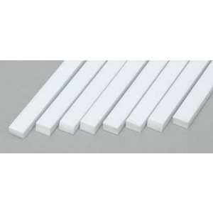 "Evergreen 166 Styrene Strips .080x.125""  (2.0 x 3.2mm) Qty 8"