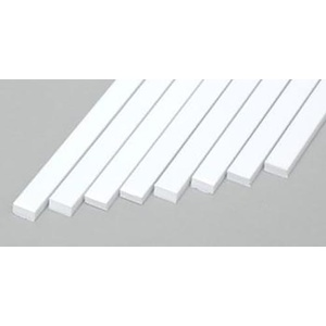 "Evergreen 167 Plastic Styrene Strips .080x.156"" (2.0 x 4.0mm) Qty 8"