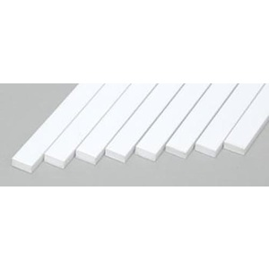 "Evergreen 168 Styrene Strips .080x.188""  (2.0 x 4.8mm) Qty 8"