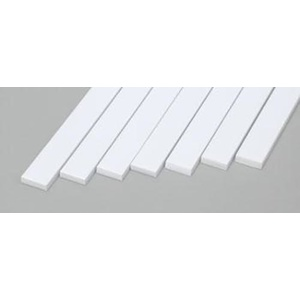 Evergreen 169 Styrene Strips .080x.250 (2.0 x 6.3mm) Qty 7