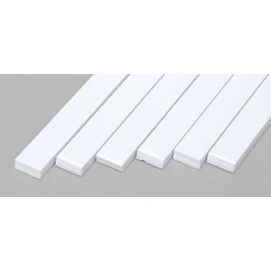 "Evergreen 179 Styrene Strips .100x.250"" (2.5 x 6.3mm) Qty 6"