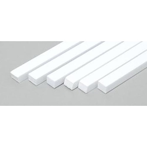 "Evergreen 187 Styrene Strips .125x.156"" (3.2 x 4.0mm) Qty 6"