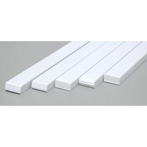 "Evergreen 189 Styrene Strips .125"" x .250"" (3.2 x 6.3mm)  Qty 5"