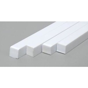 "Evergreen 196 Styrene SquareStrips .188x.188""  (4.8mm x 4.8mm) Qty 4"