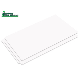 "Evergreen Plastic Styrene Plain Sheet .015"" x 6"" x 12"" (3)"