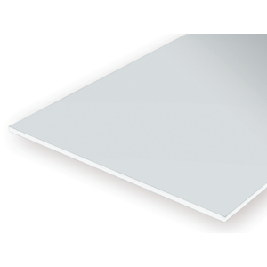 "Evergreen 9125 Plain Opaque White Polystyrene Sheet 3.2 x 152 x 305mm .125"" x 6"" x 12"""