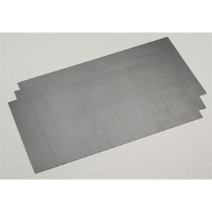"Evergreen 9513Plastic Styrene Black Sheet .020"" x 6"" x 12"" (152mm x 305mm) (0.5mm) Qty 3"