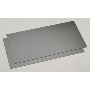 "Evergreen 9514 Plastic Styrene Black Sheet .030"" x 6"" x 12"" (152mm x 305mm) (0.75mm)Qty 2"